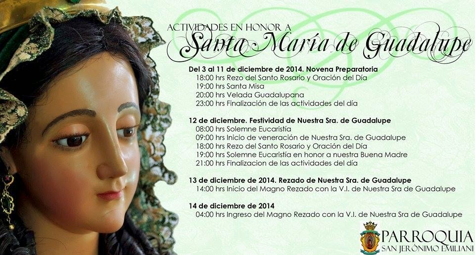 Procesion de la Virgen de Guadalupe en San Jeronimo Emiliani