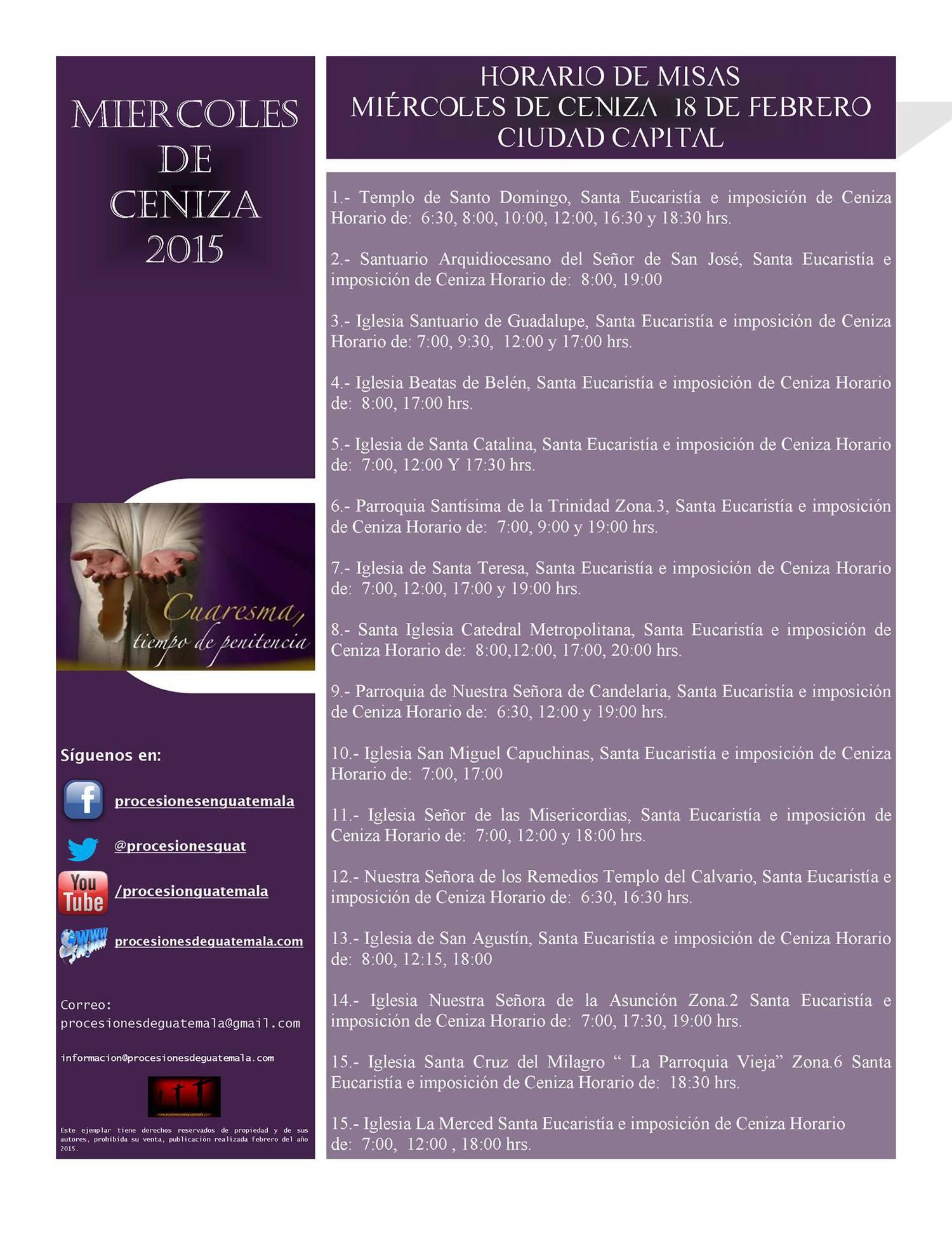 horario de misas madrid: